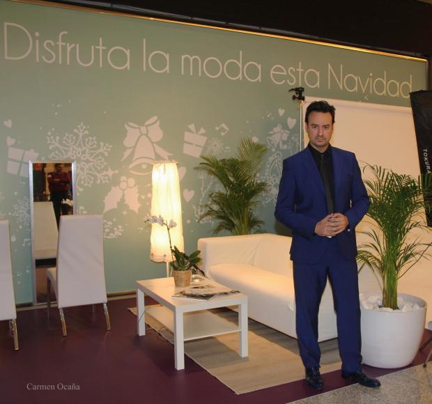 Manuel Beltrán en el set de asesoramiento de imagen